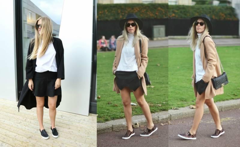 Независимо от длины изделия, лучше всего носить пальто с однотонными кедами  или обувью, украшенной мелкими цветными деталями. f70556e12cf