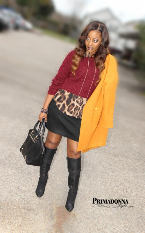big_wine-burgundy-oxblood-maroon-cropped-boucle-sweater-leopard-animal-print-shirt-top-blouse-black-mini-skirt